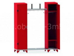 Skříňky pro hasiče IPE, 1780 x 1600 x 500 mm - kovová