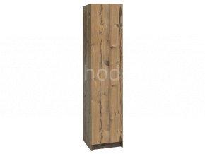 Šatní skříňka 1-dveřová 1970x420x500 lamino/lamino