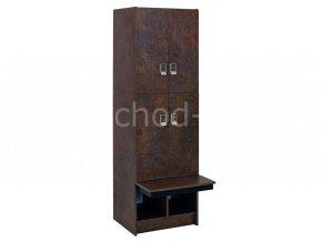 Šatní skříňka 4-boxová s lavičkou 1970x600x780 laminolamino