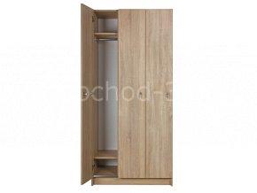 Šatní skříňka 3-dveřová 1970x900x500 laminolamino