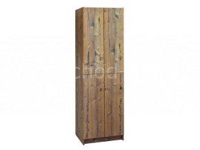 Šatní skříňka 4-boxová 1970x600x500 lamino/lamino