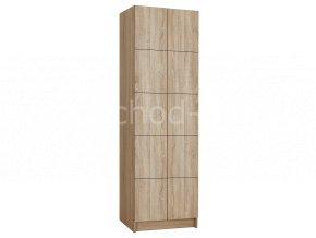 Šatní skříňka 10-boxová 1970x800x500 lamino/lamin