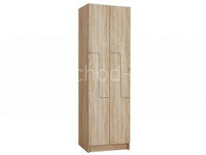 """Šatní skříňka """"Z"""" 4-boxová 1970x800x500 lamino/lamino"""