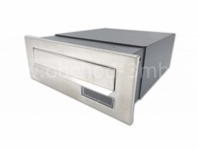 Poštovní schránka rovná k zazdění do sloupku antracit/NEREZ