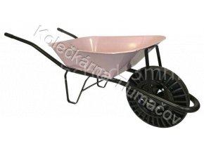 Kolečko stavební KS60 - růžová korba - bantam