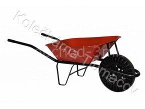 Kolečko stavební KS60 - červená korba - nafukovací kolečko