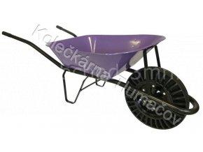 Kolečko stavební KS60 - fialová korba - nafukovací kolečko