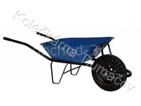 Kolečko stavební KS60 - modrá korba - nafukovací kolečko