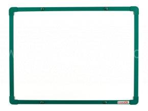 Tabule magnetická boardOK 60 x 45 cm, lakovaný povrch, zelený rám U20