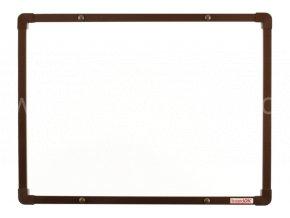 Tabule magnetická boardOK 60 x 45 cm, lakovaný povrch, hnědý rám U20