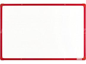 Tabule magnetická boardOK 60 x 90 cm, lakovaný povrch, červený rám U20