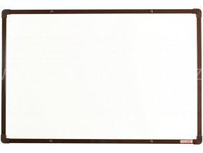 Tabule magnetická boardOK 60 x 90 cm, lakovaný povrch, hnědý rám U20