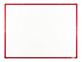 Tabule magnetická boardOK 120 x 90 cm, lakovaný povrch, červený rám U20