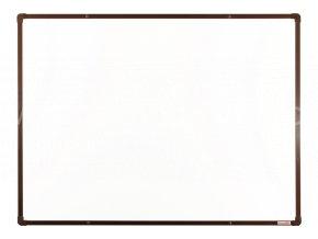 Tabule magnetická boardOK 120 x 90 cm, lakovaný povrch, hnědý rám U20