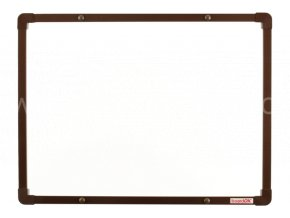 Keramická tabule boardOK 60 x 45 cm,hnědý rám U20