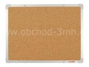 Korková tabule boardOK 60 x 45 cm, stříbrný rám U20