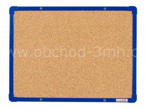 Korková tabule boardOK 60 x 45 cm, modrý rám U20