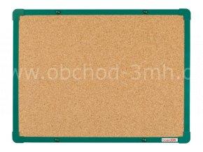 Korková tabule boardOK 60 x 45 cm, zelený rám U20