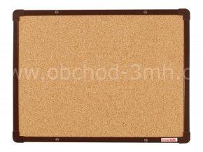 Korková tabule boardOK 60 x 45 cm,hnědý rám U20