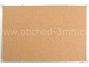 Korková tabule boardOK 60 x 90 cm, stříbrný rám U20