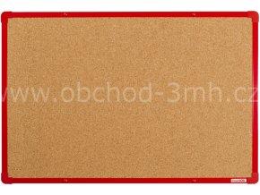 Korková tabule boardOK 60 x 90 cm, červený rám U20