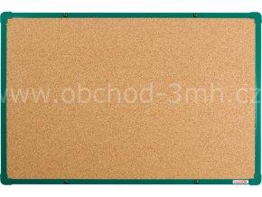 Korková tabule boardOK 60 x 90 cm, zelený rám U20