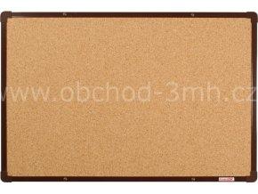 Korková tabule boardOK 60 x 90 cm,hnědý rám U20