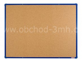 Korková tabule boardOK 120 x 90 cm, modrý rám U20