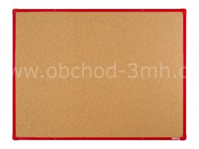 Korková tabule boardOK 120 x 90 cm, červený rám U20