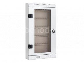 Skříňka na klíče TSK50 - 50 háčků, 670 x 370 x 105 mm - kovová