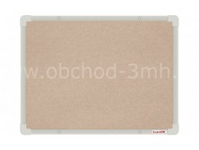 Textilní tabule boardOK 60 x 45 cm, stříbrný rám U20