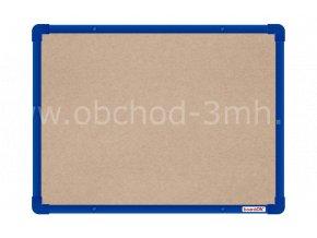 Textilní tabule boardOK 60 x 45 cm, modrý rám U20