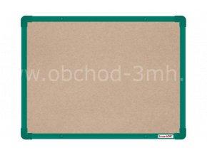 Textilní tabule boardOK 60 x 45 cm, zelený rám U20
