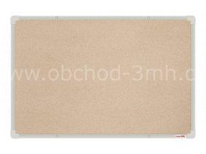 Textilní tabule boardOK 60 x 90 cm, stříbrný rám U20