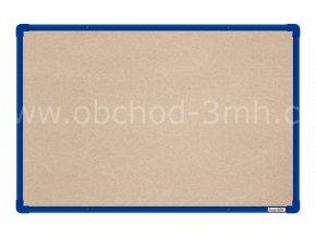 Textilní tabule boardOK 60 x 90 cm, modrý rám U20