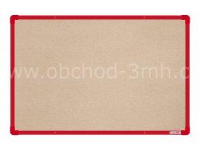 Textilní tabule boardOK 60 x 90 cm, červený rám U20