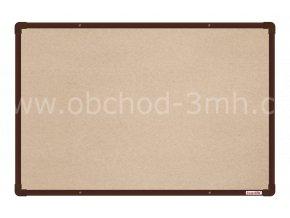 Textilní tabule boardOK 60 x 90 cm, hnědý rám U20