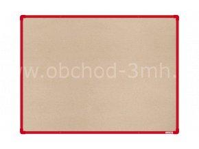 Textilní tabule boardOK 120 x 90 cm, červený rám U20