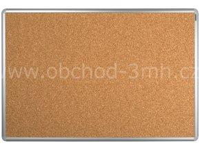 Korková tabule ekoTAB, hliníkový rám 60x90 cm