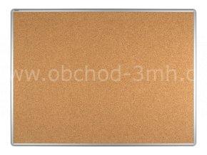 Korková tabule ekoTAB, hliníkový rám 120x90 cm