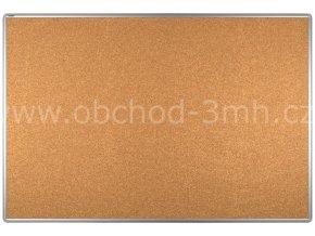 Korková tabule ekoTAB, hliníkový rám 150x100 cm
