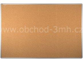 Korková tabule ekoTAB, hliníkový rám 180x120 cm