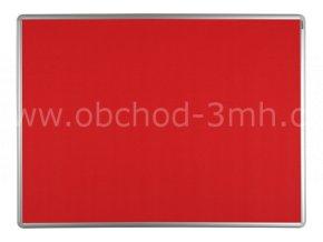 Textilní tabule ekoTAB 60x90 cm, červená