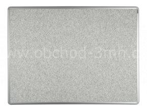 Textilní tabule ekoTAB 60x90 cm, šedá
