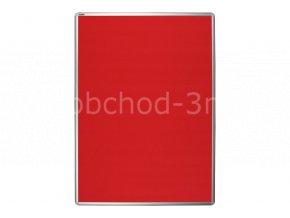 Textilní tabule ekoTAB 75x100 cm, červená