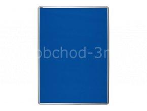 Textilní tabule ekoTAB 75x100 cm, modrá