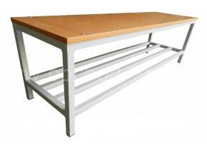 Šatní lavice STATIK-20, 450 x 2000 x 350 mm - lamino/kov