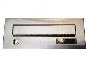 Poštovní schránka rovná k zazdění do sloupku šedá/NEREZ se zvonkem - II. třída
