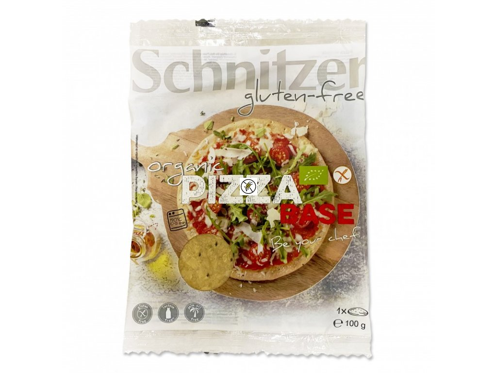 schnitzer bio pizza korpus bzl 1x100g bio pizza base ct 10