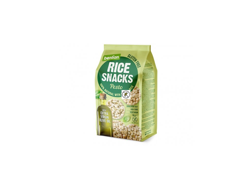 15780 BENLIAN RICE SNACKS PESTO OLIVE 50G